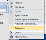 Creating meeting categories in Outlook 2007