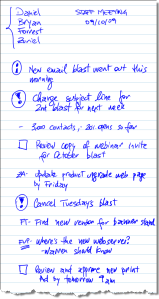 Sample Meeting Notes