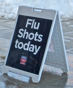 Flu Shots Sign picture from Confluence! by smilla4 @ Flickr