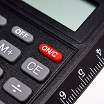 Mathematical calculator buttons with ruler by  Horia Varlan @ Flickr