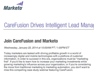 webinar registration from marketo