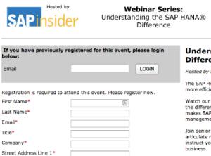 SAP Webinar